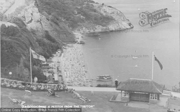 Photo of Babbacombe, Oddicombe And Petitor From Sefton Hotel c.1960