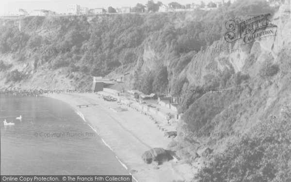 Photo of Babbacombe, Oddicombe Beach And Sefton Hotel From Petitor c.1960