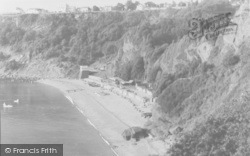 Babbacombe, Oddicombe Beach And Sefton Hotel From Petitor c.1960