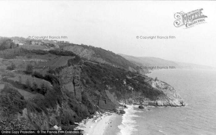 Photo of Babbacombe, Oddicombe Beach c.1950