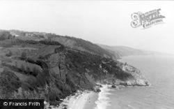 Babbacombe, Oddicombe Beach c.1950