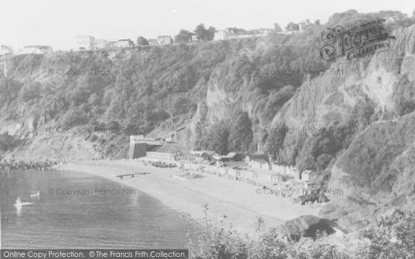 Photo of Babbacombe, The Beach, Cliff Railway And Sefton Hotel c.1960