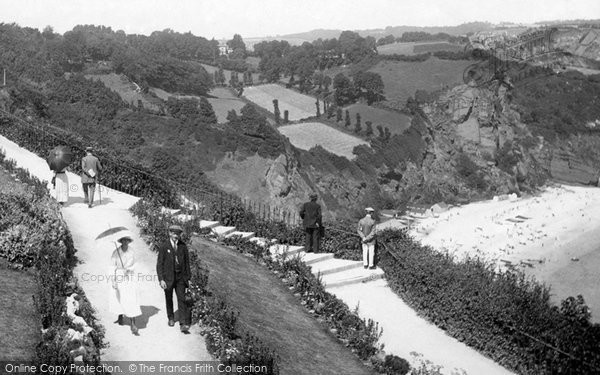 Photo of Babbacombe, Walking On The Downs 1918