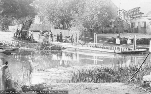 Photo of Bablock Hythe, The Rope Ferry c.1900
