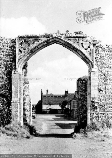 Photo of Bacton, Abbey Gateway And Pilgrims House c.1955