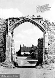 Bacton, Abbey Gateway And Pilgrims House c.1955