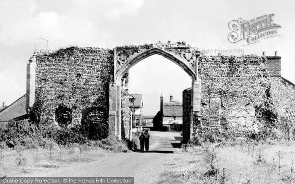 Photo of Bacton, Abbey Gateway c.1955