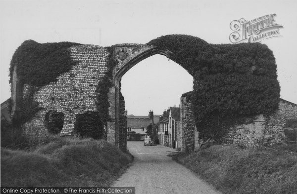 Photo of Bacton, Abbey Gateway c.1955