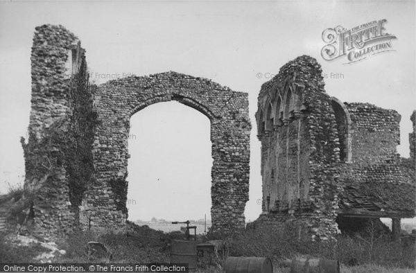 Photo of Bacton, Abbey Ruins c.1955
