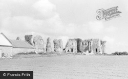 Bacton, Abbey Ruins c.1955