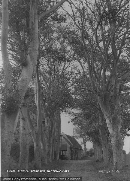 Photo of Bacton, Church Approach c.1955