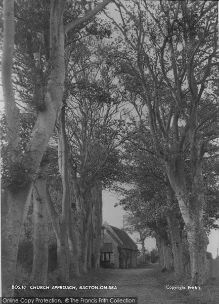 Bacton, Church Approach c.1955