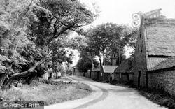 Bacton, Church Lane c.1955