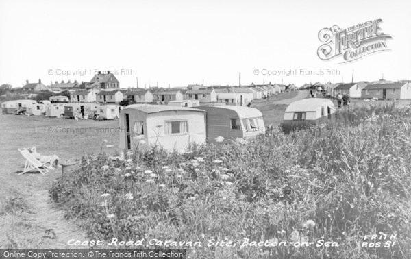 Photo of Bacton, Coast Road Caravan Site c.1955