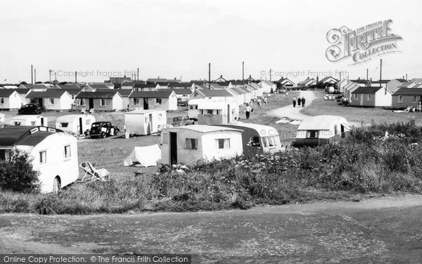 Photo of Bacton, Coast Road Caravan Site c.1955
