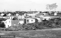Bacton, Coast Road Caravan Site c.1955