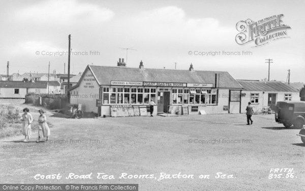 Photo of Bacton, Coast Road Tea Rooms c.1955