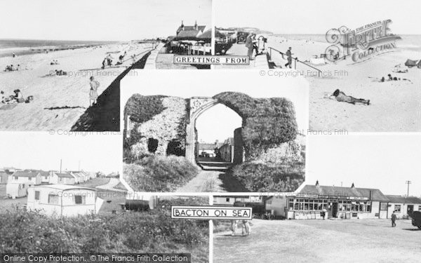 Photo of Bacton, Composite c.1955