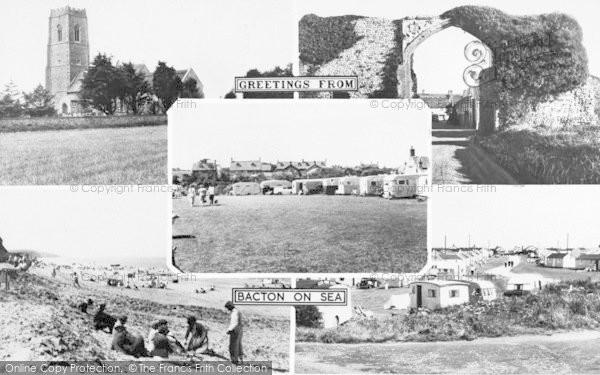 Photo of Bacton, Composite c.1955