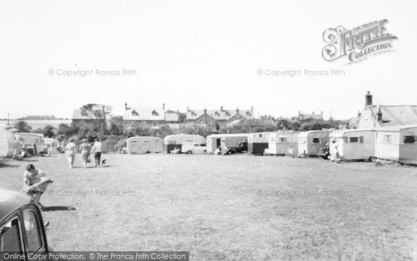 Photo of Bacton, Doe's Croft Caravan Site c.1955