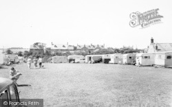 Bacton, Doe's Croft Caravan Site c.1955