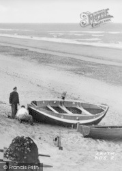 Bacton, Fishermen On The Beach c.1955