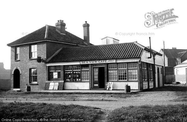 Bacton, Sea View Cafe c.1955