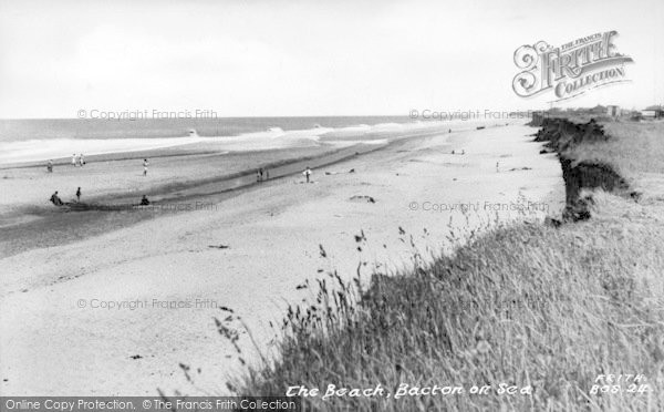 Photo of Bacton, The Beach c.1955