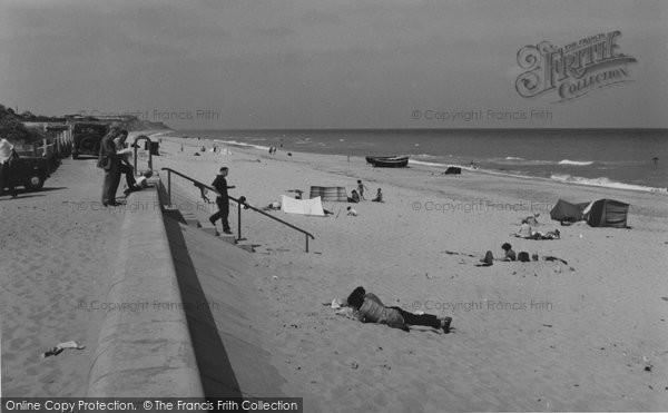 Photo of Bacton, The Beach c.1955