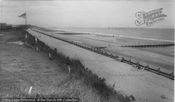 Photo of Bacton, The Beach c.1960