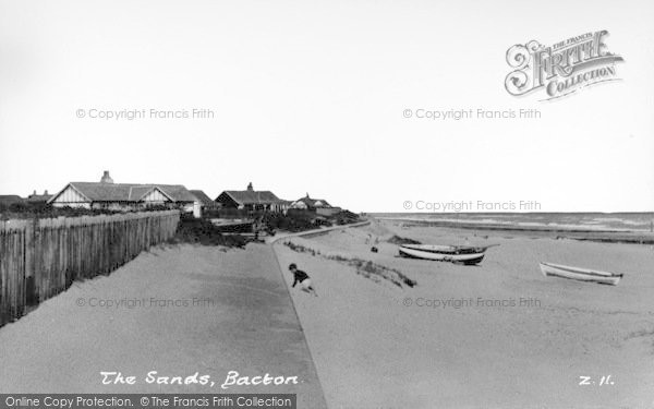 Photo of Bacton, The Sands c.1955