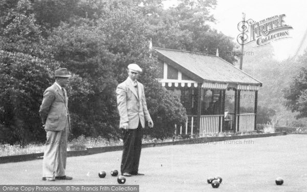 Photo of Bacup, Playing Bowls, Moorlands Park c.1955
