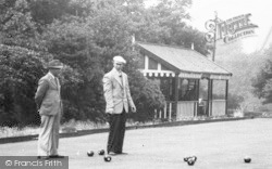 Bacup, Playing Bowls, Moorlands Park c.1955
