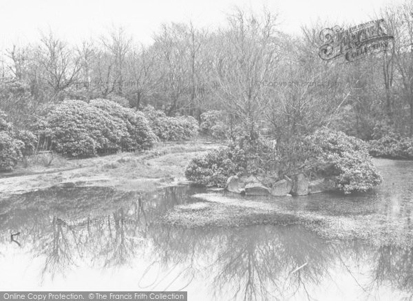 Photo of Bacup, Stubbylee Park, The Pond c.1955