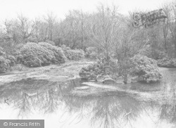 Bacup, Stubbylee Park, The Pond c.1955