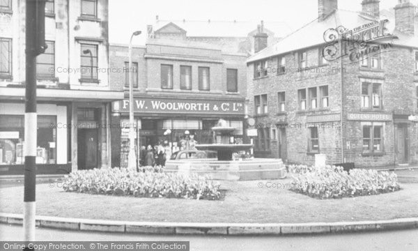Photo of Bacup, The Fountain, St James Square c.1955