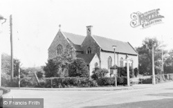 Badshot Lea, The Cross Roads And St George's Church c.1955