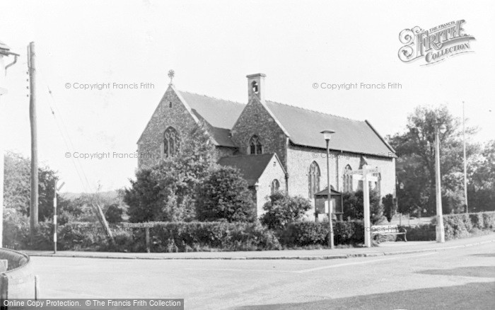 Photo of Badshot Lea, The Cross Roads c.1955