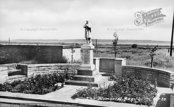 Photo of Bagillt, The Memorial c.1955