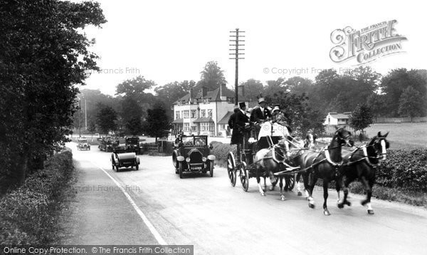 Photo of Bagshot, Coach And Four Passing The Cricketer's Inn 1927