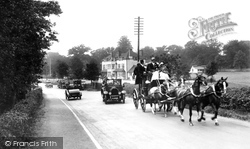Bagshot, Coach-And-Four Passing The Cricketer's Inn 1927
