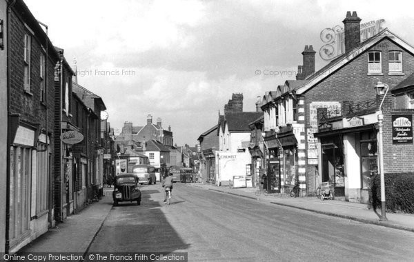 Photo of Bagshot, High Street c.1955