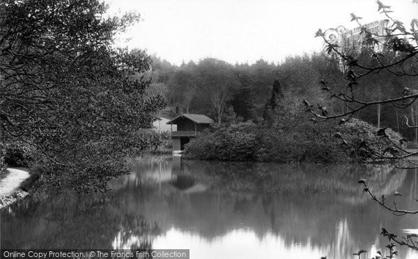 Photo of Bagshot, Pennyhill Park, Lake And Boathouse 1909