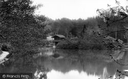 Bagshot, Pennyhill Park, Lake And Boathouse 1909