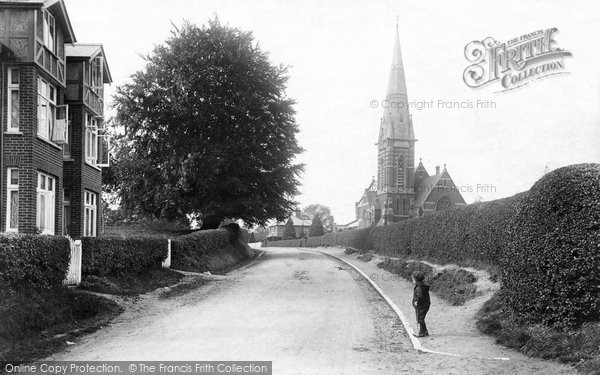 Photo of Bagshot, St Anne's Church 1906
