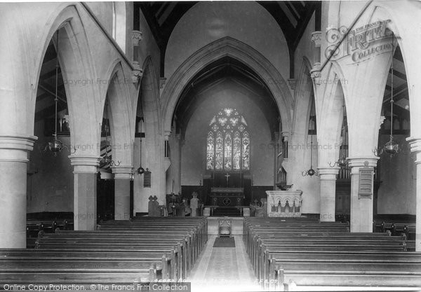 Bagshot, St Anne's Church Interior 1901