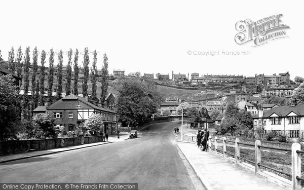 Photo of Baildon, view from Baildon Road c1955