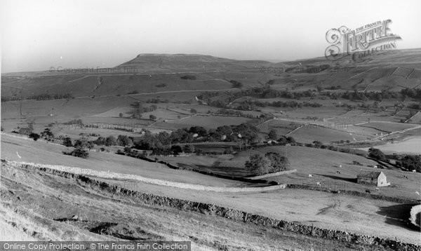Photo of Bainbridge, Addlebrough From Nichol's Rigg c.1960