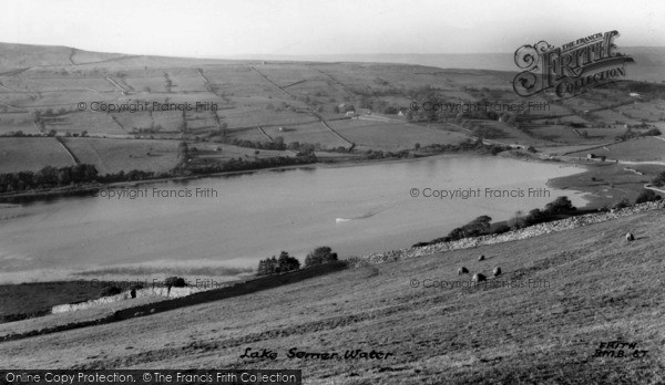 Photo of Bainbridge, Lake Semerwater From Stalling Busk c.1955