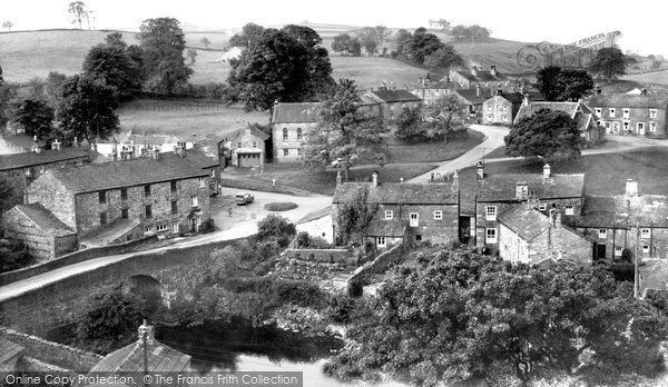 Photo of Bainbridge, The Village From Roman Fort c.1960